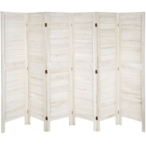 Ares 67 x 100 Tall Modern Venetian 6 Panel Room Divider