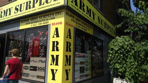 Army-Surplus Army Surplus Downtown Toronto.