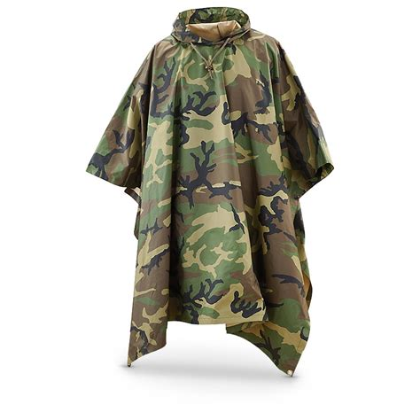 Army-Surplus Army Surplus Rain Poncho.