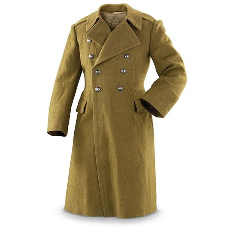 Army-Surplus Army Surplus Trench Coat Green.