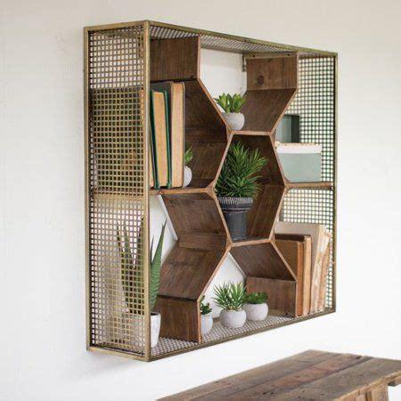 Arnt Wooden Honey Comb Floating Shelf