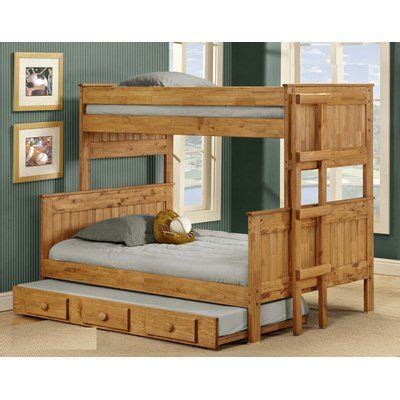 Arrellano Stackable Bunk Bed with Trundle by Harriet Bee