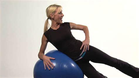 arthritis hip stretches exercise yoga ball