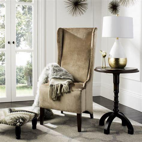 Arthurs Faux-Silk Velvet Wing Chair