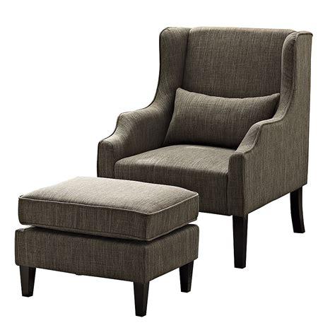 Ashbury Wingback Chair and Ottoman