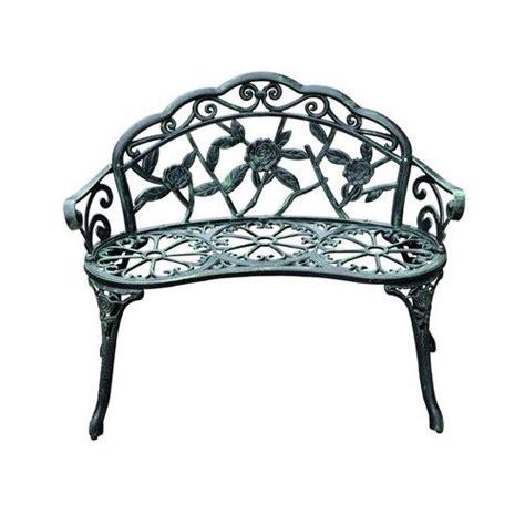 Asheville Antique Outdoor Patio Metal Garden Bench