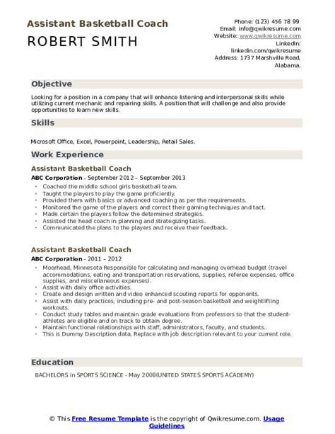 college basketball coach resume coaching resume cover letters jianbochencom nike letter coaching resume cover letters sample