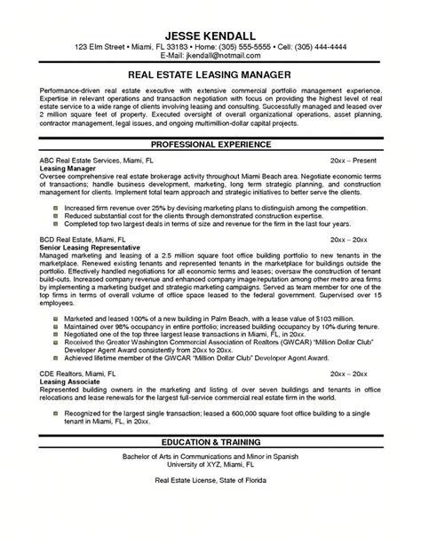 assistant leasing manager resume sample property manager sample resume cvtips