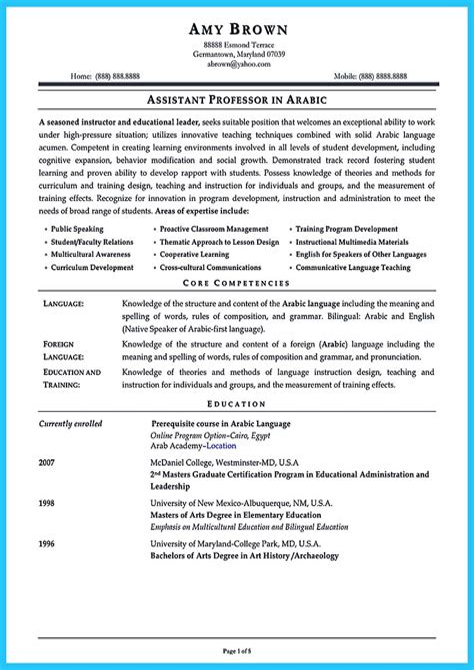 Resume Cover Letter Principal