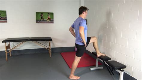 assisted hip flexor stretches and strengthening of plantar