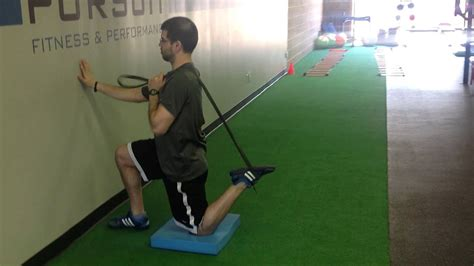 assisted kneeling hip flexor stretches youtube