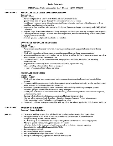 associate recruiter resume staffing recruiter resume sample recruiter resumes veteran - Staffing Recruiter Resume