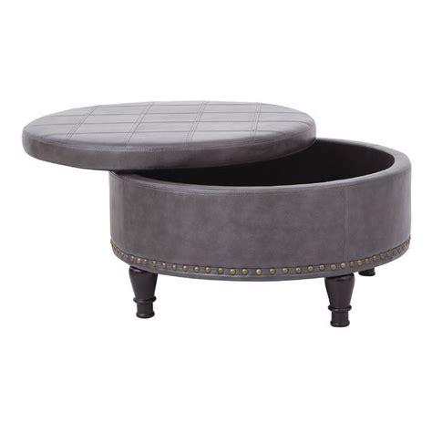 Austina Leather Storage Ottoman