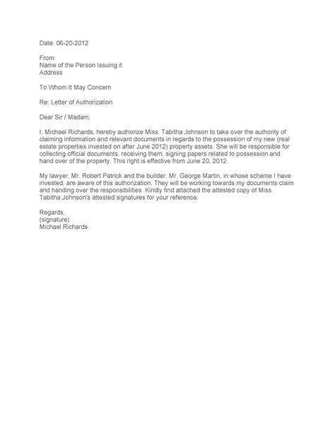 Authorization Letter Definition