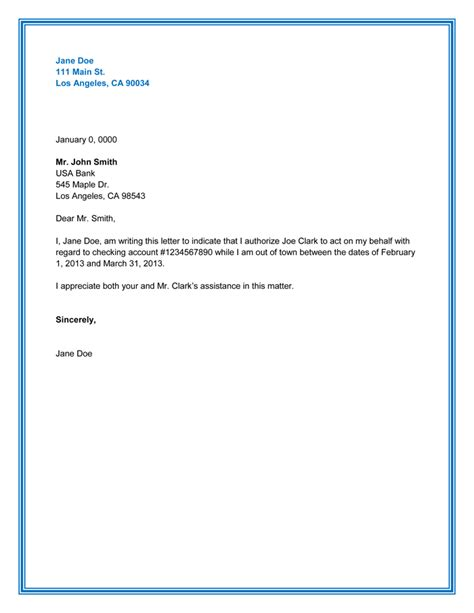 authorization letter get certificate how to write an authorization letter claim check free