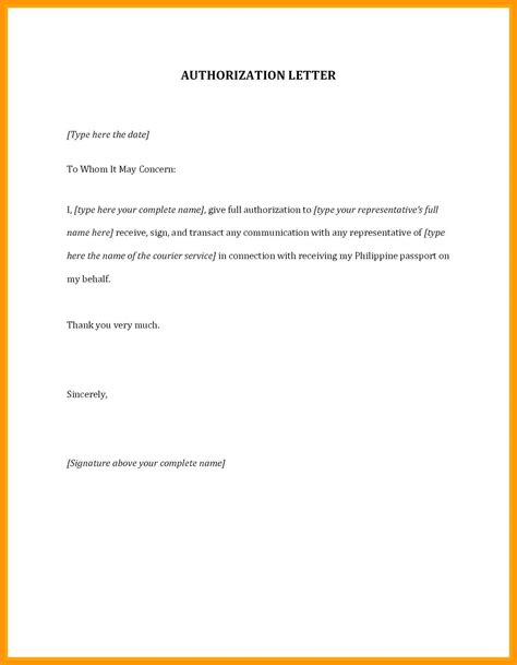 Authorization Letter Collection | Business Letter Format To Judge