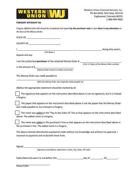 Authorization Letter Western Union Western Union Payment Order Authorizationpdf