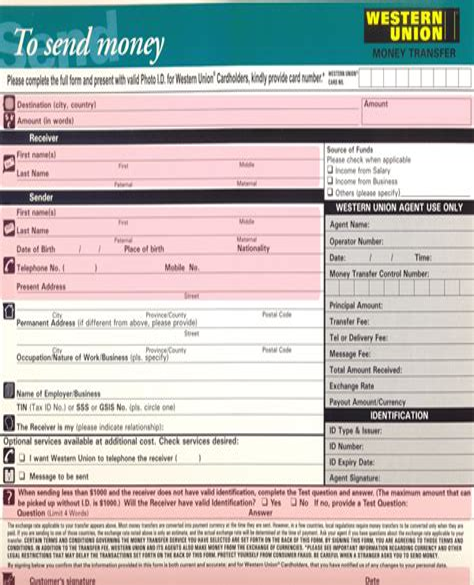 Authorization Letter Western Union Westernunion