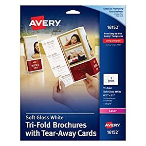 Credit Card Size Brochure Template Avery Tri Fold Brochure With Tear Away Cards 50