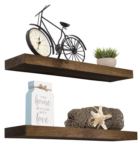 Ayala True Floating Wall Shelf (Set of 2)