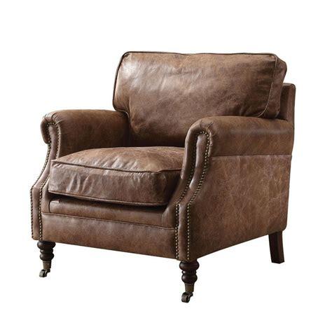 Babita Top Grain Leather Club Chair
