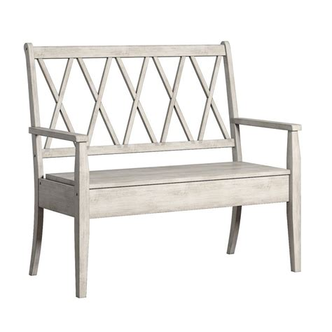 Back Bay Wood Storage Bench