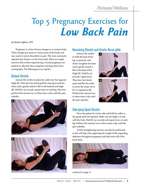 back pain from over stretching muscles during pregnancy
