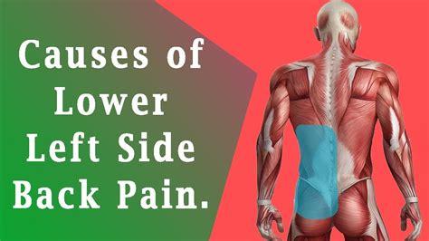 back pain lower left side of back