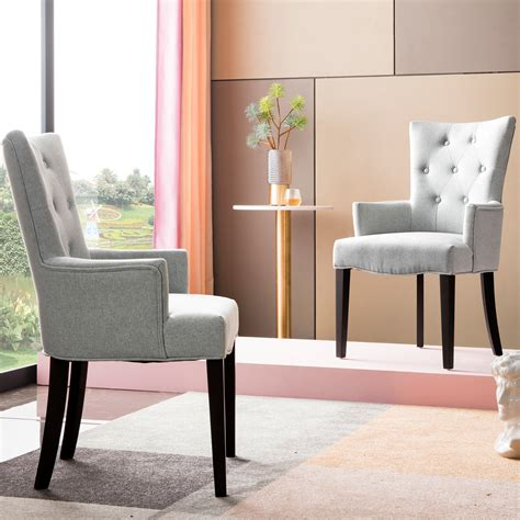 Back Upholstered Dining Chair (Set of 2)