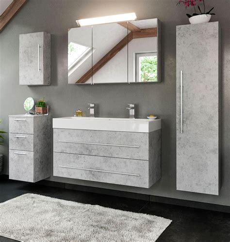 Badezimmer Hängeschränke Grau