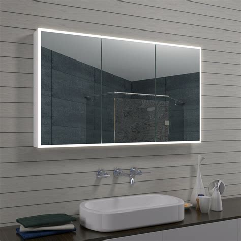 Badezimmer Spiegelschrank Aluminium