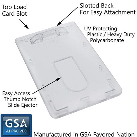 Credit Card Holder With Key Ring Badge Holders Plastic Name Badges Id Card And Rigid