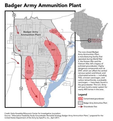 Ammunition Badger Army Ammunition Plant Map.