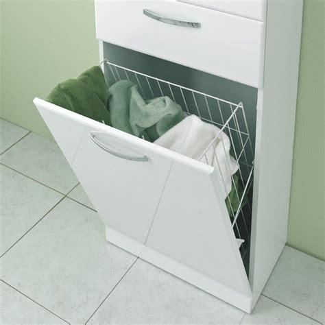 Badschrank Mit Wäschekorb