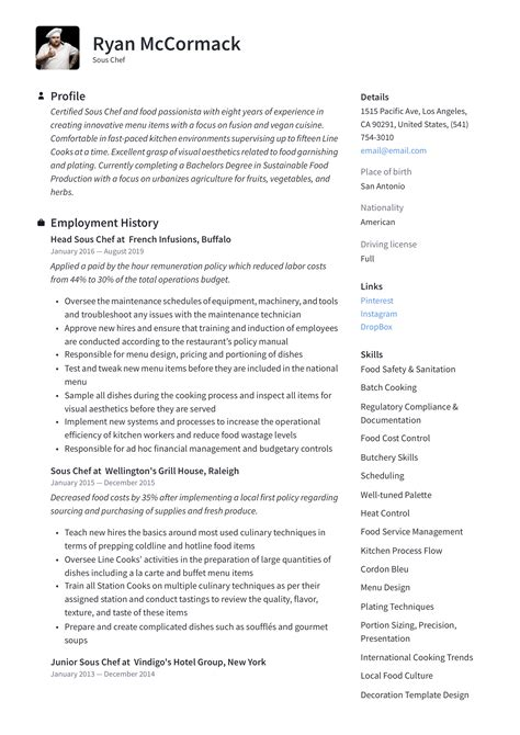 resume examples pastry chef baker pastry chef resume sample chef resumes livecareer