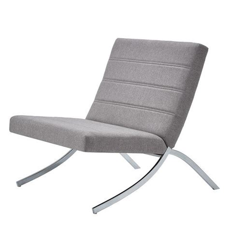 Balderas Linen Lounge Chair with Metal Leg