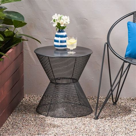 Bales Outdoor Iron End Table