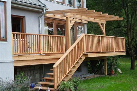 Balkonüberdachung Holz