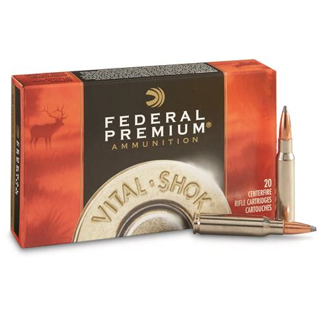 Ammunition Ballistics For Federal Premium Vital Shok Ammunition.