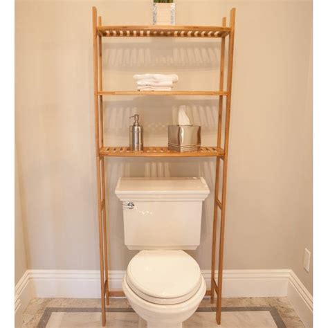 Bamboo 25.98 W x 64.96 H Over-the-Toilet