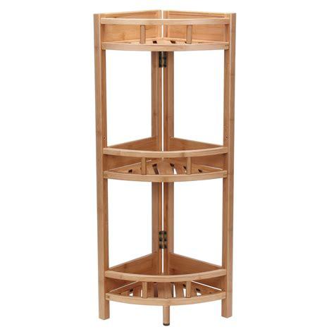Bamboo Slatted Corner Unit Bookcase