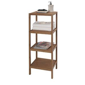 Bamboo Tower 14 W x 41.5 H Bathroom Shelf