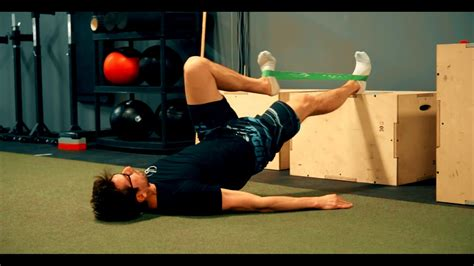 band exercise for hip flexor and youtube and the guess who