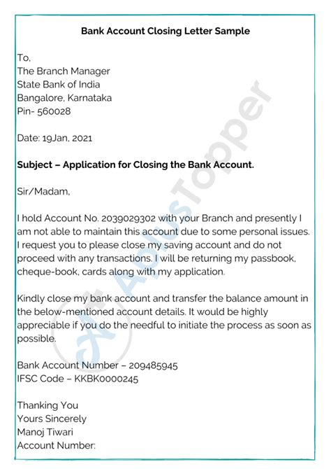 Bank Application Letter Hindi How To Write Application Letter To Bank Manager In English