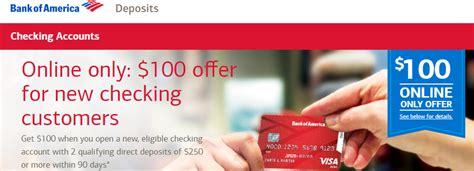 Change Credit Card Design Bank Of America Bank Of America 100 Checking Bonus Doctor Of Credit