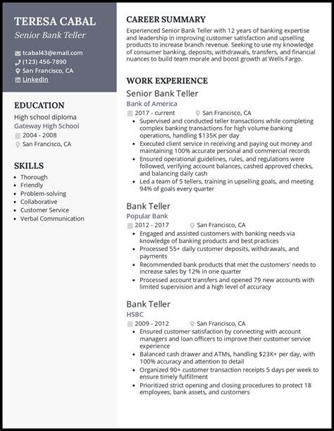bank teller resume samples free sales resume free cv samples - Sample Bank Teller Resume