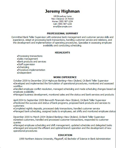 Resume Objective Statement Bank Teller Free Cover Letter Call Center Supervisor Production LATAmup