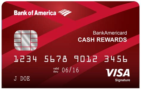 Credit Card Account Access Site Bankamericard Cash Rewards Credit Card Bank Of America