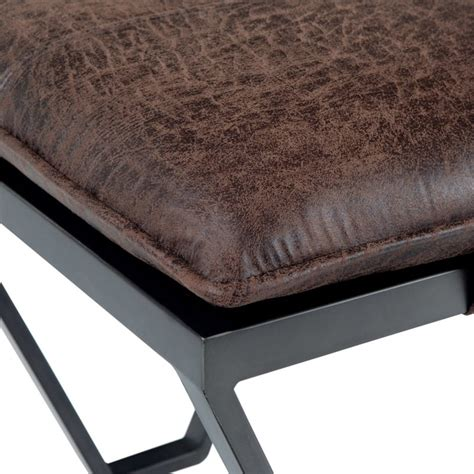 Bannister Leather Ottoman