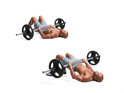 barbell glute bridge with dumbbells